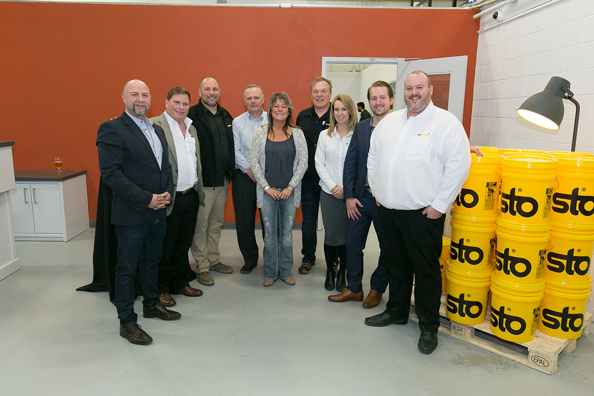 Sto Canada Team at Sales Centre Opening