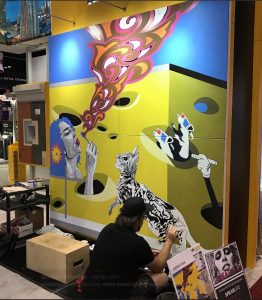 Noted Artist Creates Mural For Sto Corp At AIA Expo